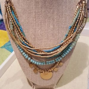 Stella and Dot Isa disc necklace